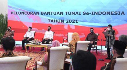 PRESIDEN RI LUNCURKAN PROGRAM BANTUAN TUNAI 2021